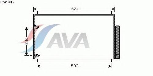Радиатор кондиционера AVA QUALITY COOLING TOA5405