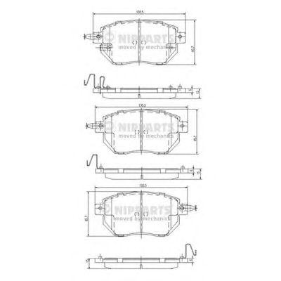 Тормозные колодки NIPPARTS J3601092
