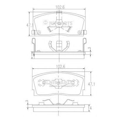 Тормозные колодки NIPPARTS J3606006