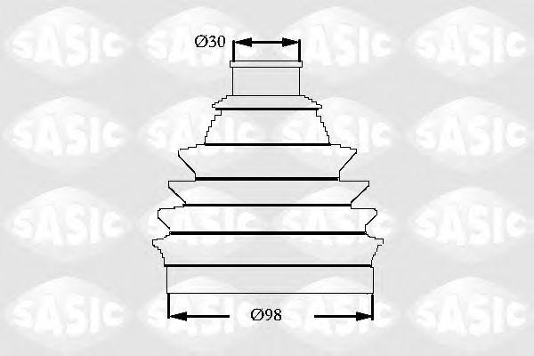 Комплект пыльника ШРУСа SASIC 2933063
