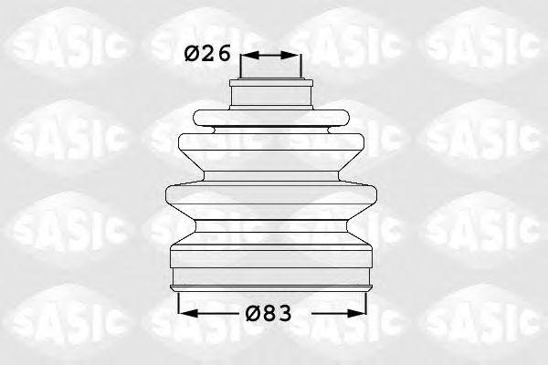 Комплект пыльника ШРУСа SASIC 1906017