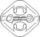 Кронштейн глушителя TOPRAN 107 226