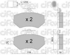 Тормозные колодки CIFAM 822-050-1