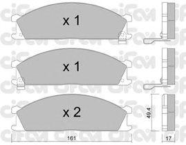 Тормозные колодки CIFAM 822-107-1