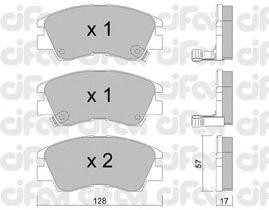 Тормозные колодки CIFAM 822-115-0