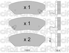 Тормозные колодки CIFAM 822-136-0