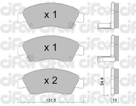 Тормозные колодки CIFAM 822-138-0