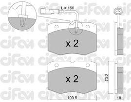 Тормозные колодки CIFAM 822-139-1