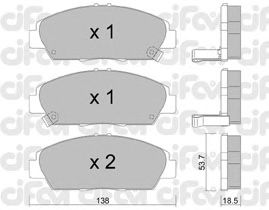Тормозные колодки CIFAM 822-172-0