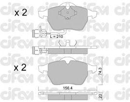 Тормозные колодки CIFAM 822-181-0
