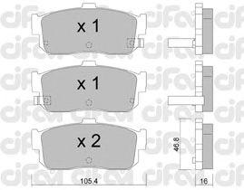 Тормозные колодки CIFAM 822-193-1