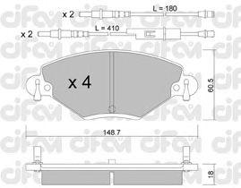 Тормозные колодки CIFAM 822-331-0