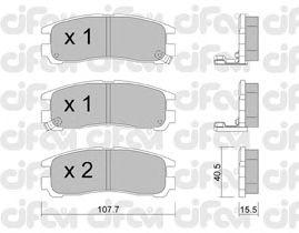 Тормозные колодки CIFAM 822-398-0