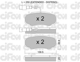 Тормозные колодки CIFAM 822-532-1