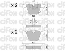 Тормозные колодки CIFAM 822-643-0