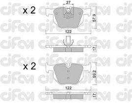 Тормозные колодки CIFAM 822-644-0
