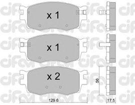 Тормозные колодки CIFAM 822-724-0