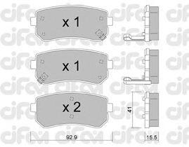 Тормозные колодки CIFAM 822-725-0