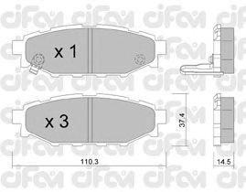 Тормозные колодки CIFAM 822-764-0
