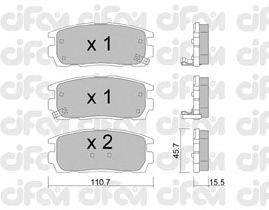 Тормозные колодки CIFAM 822-779-0
