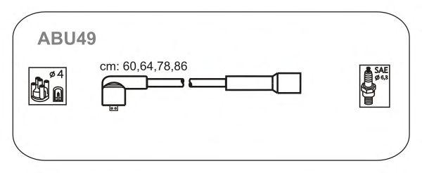 Комплект высоковольтных проводов JANMOR ABU49