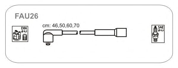 Комплект высоковольтных проводов JANMOR FAU26