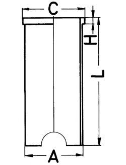 Гильза цилиндра KOLBENSCHMIDT 89163190