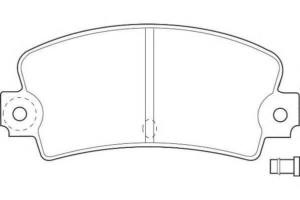 Тормозные колодки WAGNER WBP20336A