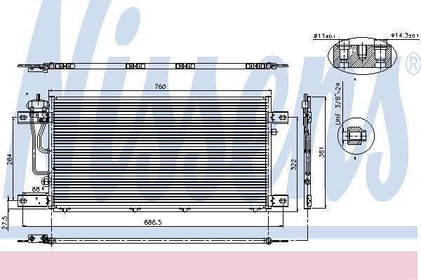 Радиатор кондиционера NISSENS 94503