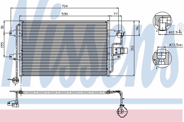Радиатор кондиционера NISSENS 94838