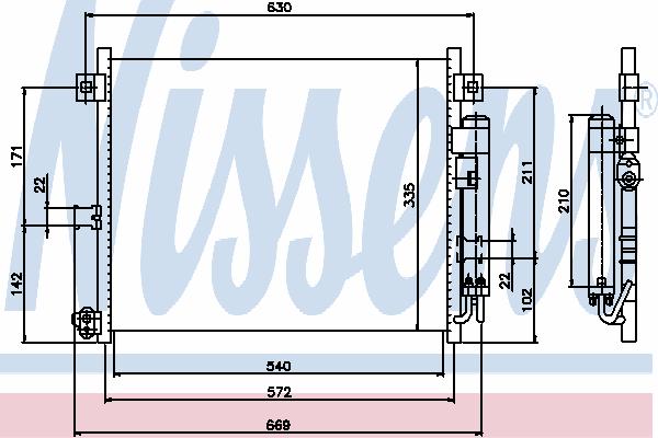 Радиатор кондиционера NISSENS 94949