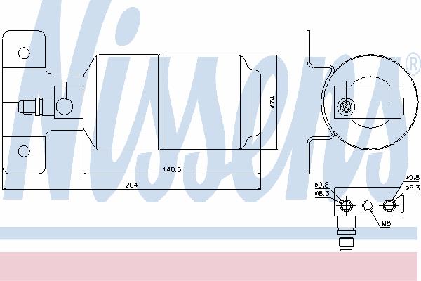 Осушитель кондиционера NISSENS 95169
