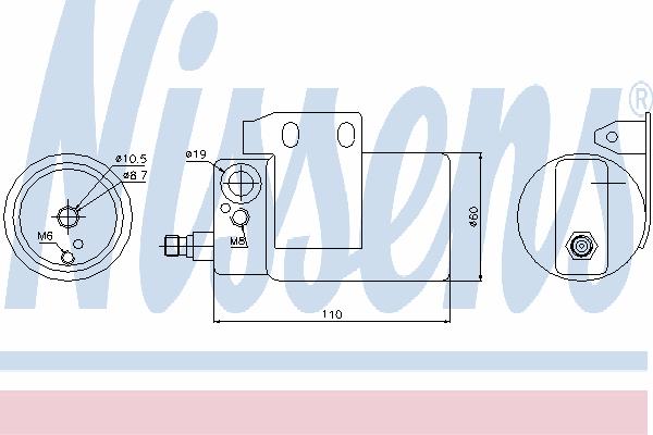 Осушитель кондиционера NISSENS 95185
