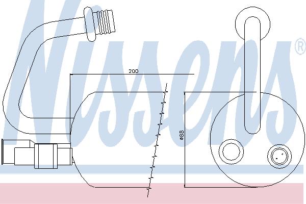 Осушитель кондиционера NISSENS 95211
