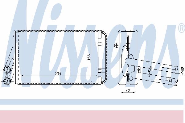 Радиатор отопителя NISSENS 70229