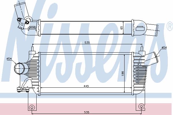 Интеркулер NISSENS 96622