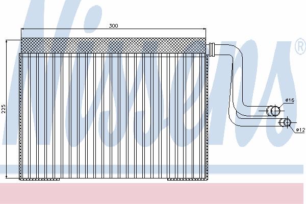 Испаритель кондиционера NISSENS 92268