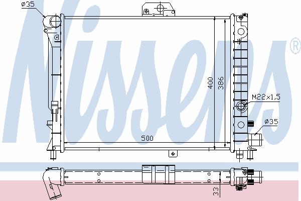 Радиатор, охлаждение двигателя NISSENS 64049