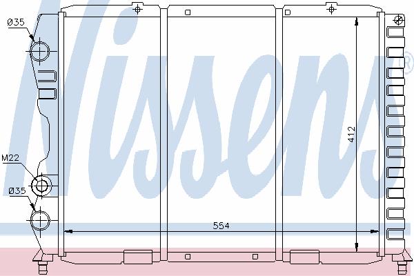 Радиатор, охлаждение двигателя NISSENS 60033