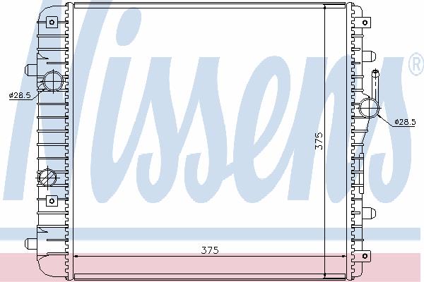 Радиатор, охлаждение двигателя NISSENS 630738