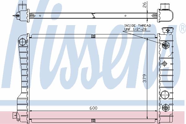 Радиатор, охлаждение двигателя NISSENS 69114A