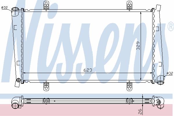 Радиатор, охлаждение двигателя NISSENS 65560A