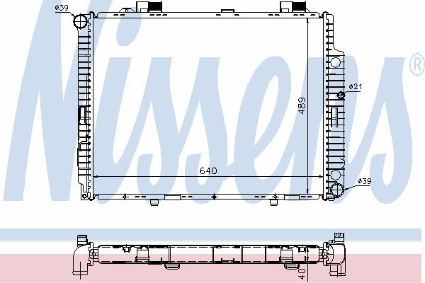 Радиатор, охлаждение двигателя NISSENS 62598A