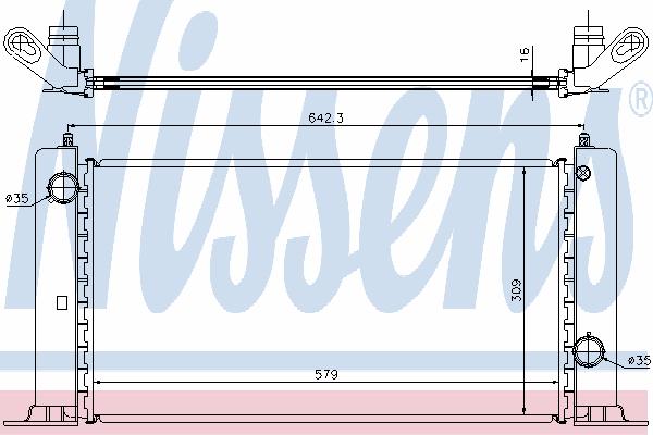 Радиатор, охлаждение двигателя NISSENS 61883A