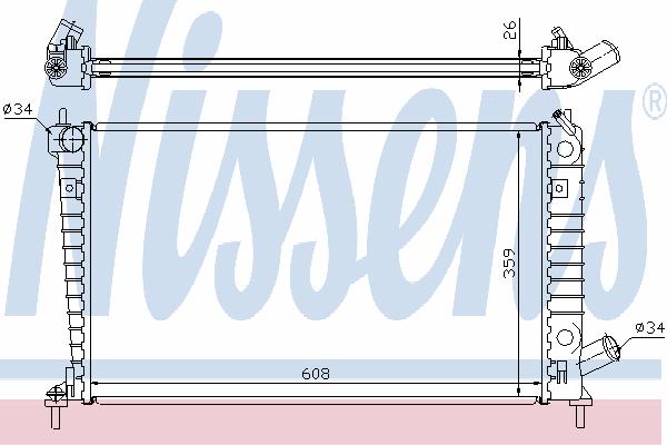 Радиатор, охлаждение двигателя NISSENS 68004A