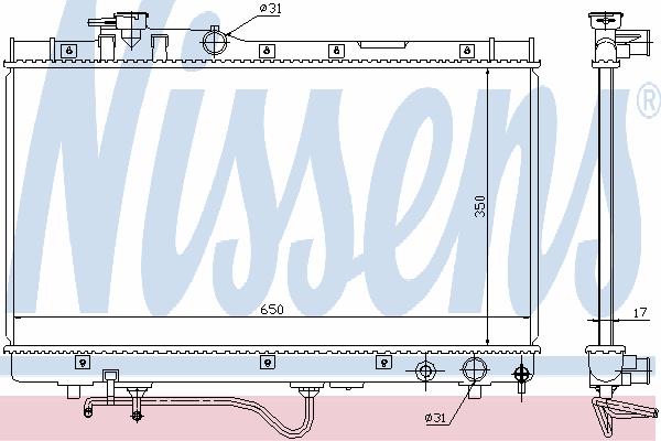 Радиатор, охлаждение двигателя NISSENS 647771