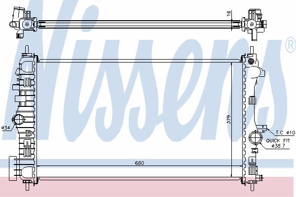 Радиатор, охлаждение двигателя NISSENS 630718