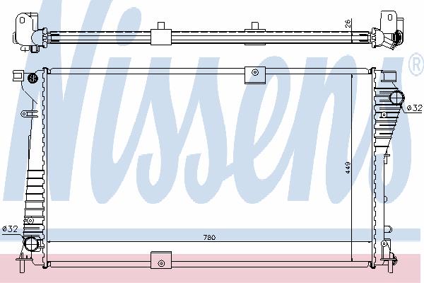 Радиатор, охлаждение двигателя NISSENS 630709