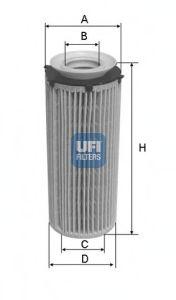 Масляный фильтр UFI 25.096.00