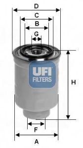 Топливный фильтр UFI 24.446.01